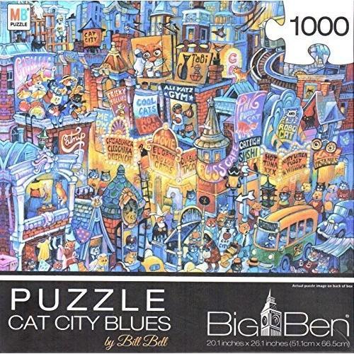 Cat シティ ブルー By Bill ベル 1000 ピース パズル by ジョージ海外取寄せ品
