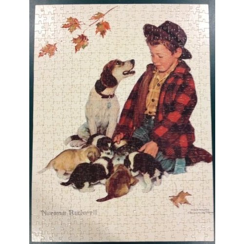 Norman Rockwell: Pride of Parenthood / A ボーイ and His Dog 550 ピース ジグソ海外取寄せ品