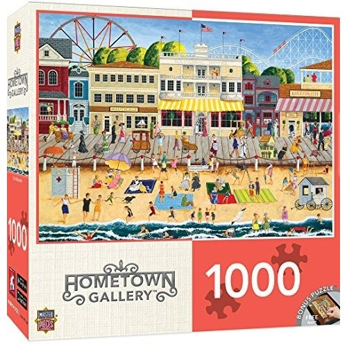 MasterPieces Hometown ギャラリー On the Boardwalk パズル (1000 Piece) by Mas海外取寄せ品