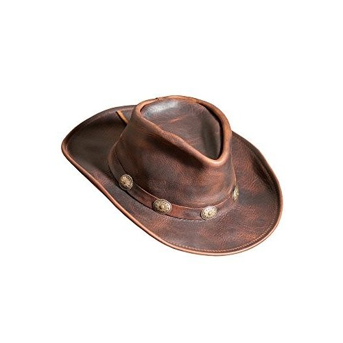 海外並行輸入正規品 Raging Bull レザー カウボーイ ハット, ブラウン, サイズ ラージ (7 1/4?7 3/8)(海外取寄せ品), 靴ショップ やまう d7c960f0