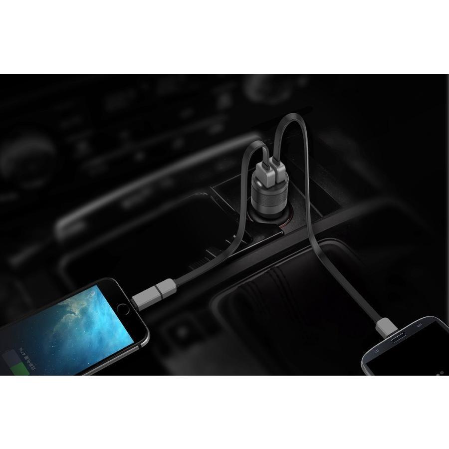 シガーソケット USB 2ポート 車載用 充電器 車 急速 iPhone Android スマホ 12V 24V カーチャージャー 4.8A タブレット Wicked Chili ta-creative 16