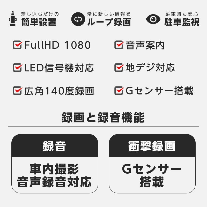 ドラレコ ドライブレコーダー 1080P 車内 車外 リアカメラ 置き方自由 ダッシュボード上 サブカメラ 静止画撮影対応  AKY R1|ta-creative|03