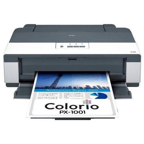 EPSON 2020春夏新作 驚きの価格が実現 Colorio インクジェットプリンター PX-1001 A3ノビ対応 CD DVDレーベルプリント対応 4色顔料インク