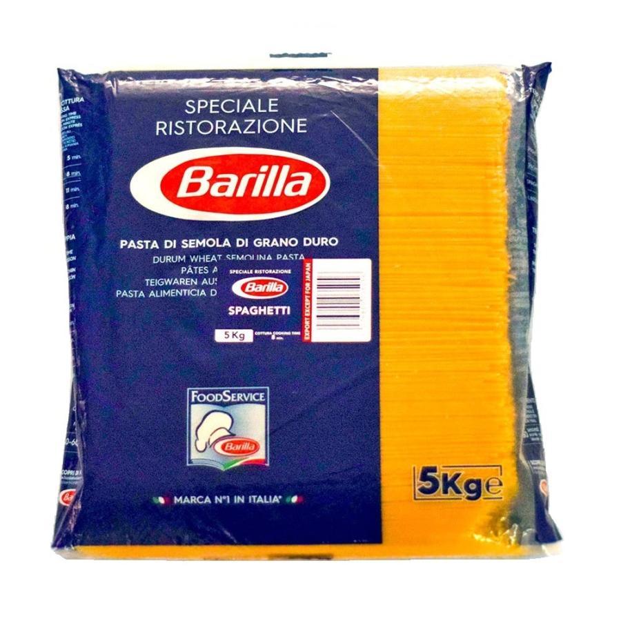 (トマト缶2個付き)NEWバリラ(Barilla) スパゲッティ No.5 (1.8mm) 5kg パスタ 業務用|tabeluca
