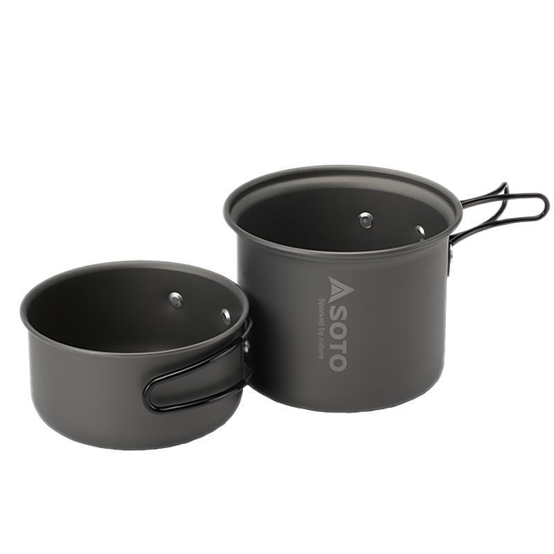 クッキング用品 軽量 携帯 野外 バーベキュー ツーリング アルミクッカーセット M SOD-510|tabi-bocchi|09