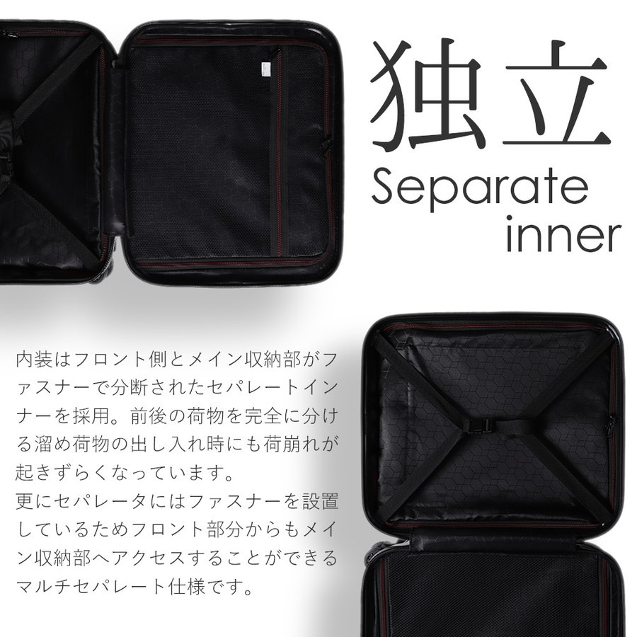 スーツケース キャリーケース 機内持ち込み Sサイズ フロントオープン 小型 軽量 ビジネスキャリー キャリーバッグ TSA フロントポケット 人気 おすすめ 出張 tabi 08