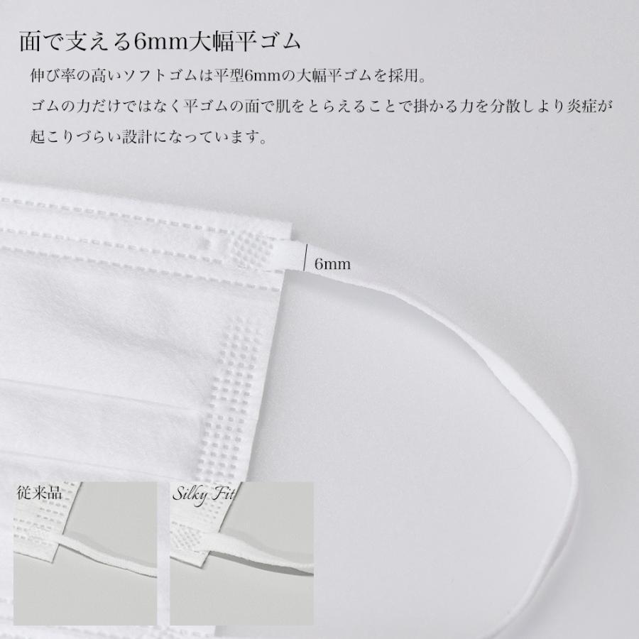 マスク 不織布 個包装 個別包装 30枚 耳が痛くない 小さめ 大きめ 普通サイズ カラー 白 平ゴム やわらか 使い捨て 3層構造 おすすめ シルキーフィット tabi 12