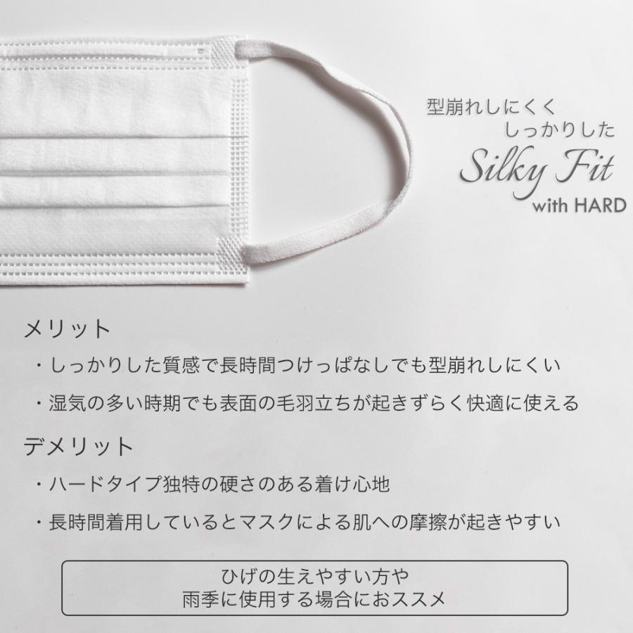 マスク 不織布 個包装 個別包装 30枚 耳が痛くない 小さめ 大きめ 普通サイズ カラー 白 平ゴム やわらか 使い捨て 3層構造 おすすめ シルキーフィット tabi 05