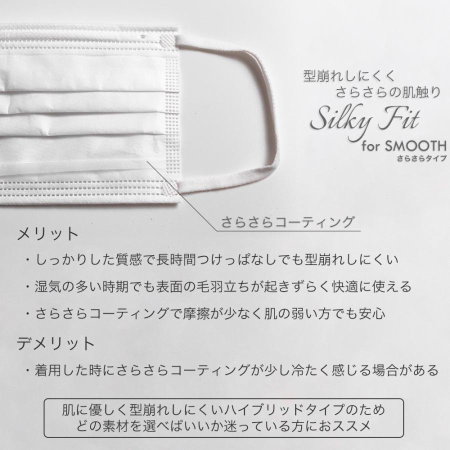 マスク 不織布 個包装 個別包装 30枚 耳が痛くない 小さめ 大きめ 普通サイズ カラー 白 平ゴム やわらか 使い捨て 3層構造 おすすめ シルキーフィット tabi 06
