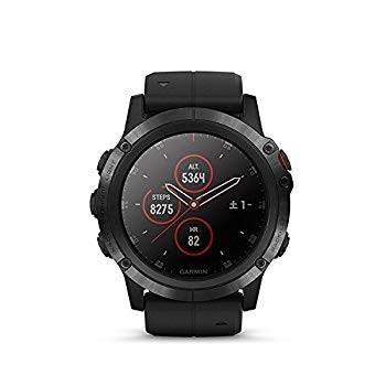 GARMIN(ガーミン) fenix 5X Plus Sapphire Black 音楽再生機能 マルチスポーツ型GPSウォッチ 最大18日