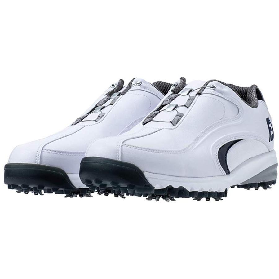 フットジョイ ゴルフシューズ FJ ULTRA FIT Boa メンズ 54185J ホワイト/ネイビー(19) 24.5 cm スーパーワ