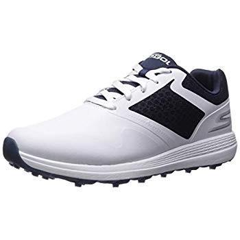 スケッチャーズ ゴルフシューズ MAX メンズ ホワイト×ネイビー US 10.5(28.5 cm) 2E