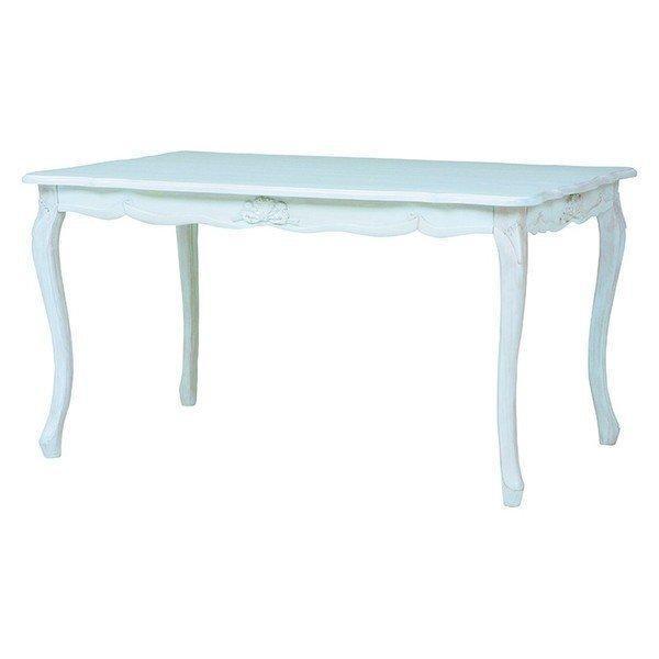 ダイニングテーブル 幅135cm 幅135cm アンティーク調 リビングテーブル 上品 クラシック〔長方形〕