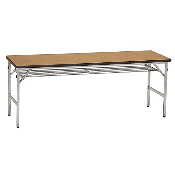 [送料無料]折りたたみ式脚会議テーブル ソフト スライド式脚 180×75cm [送料無料]折りたたみ式脚会議テーブル ソフト スライド式脚 180×75cm