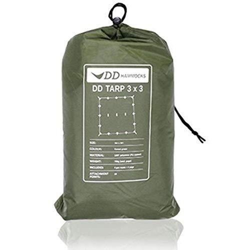 DD Hammocks DD Tarp 3x3 正方形 耐水性 3000mm ハンモックのフライに最適なタープ (フォレストグリーン) [並行輸入品]|tachibana-store-2nd