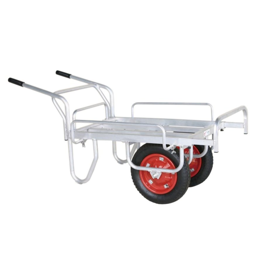 ハラックス コン助 CN-45DWS エアータイヤ (TR-13×3T) アルミ製 平型二輪車 伸縮式サイドガード付き (1輪車に付け替え可能タイプ) 法人個人選択
