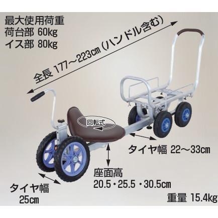 ハラックス パラエモン NAH-850 2輪ノーパンクタイヤ(TR-12N) 4輪エアータイヤ(TR-2.50×4T) 乗用作業車(愛菜号CH-850セット) 法人個人選択