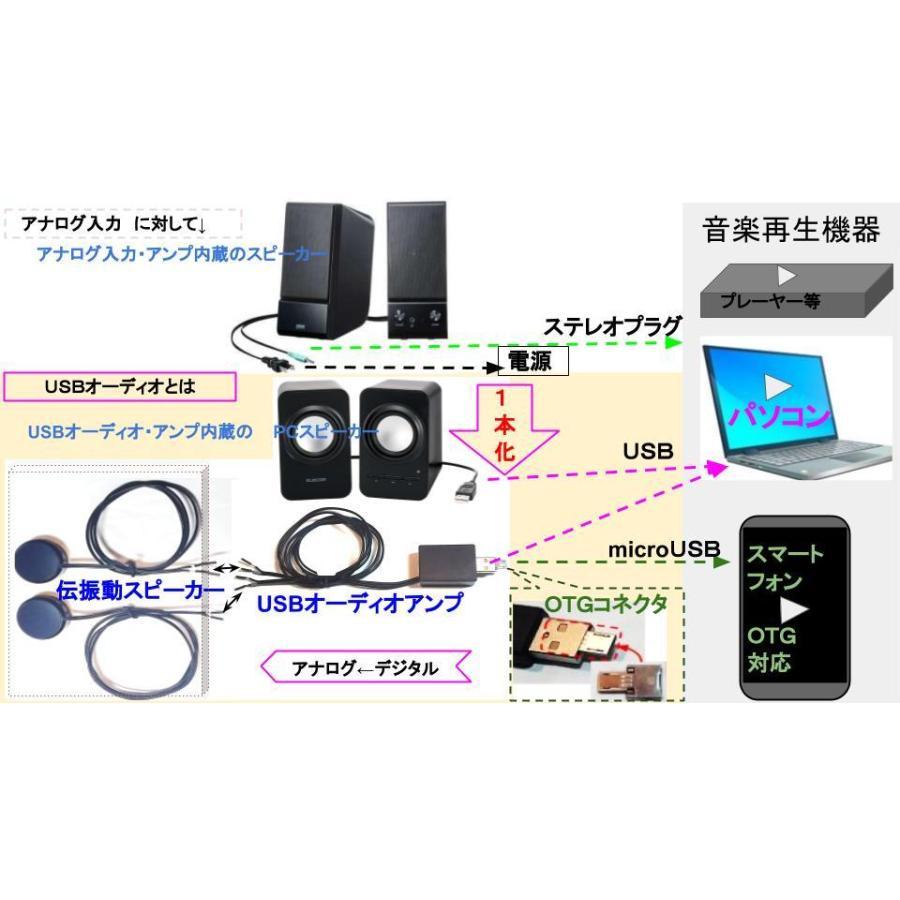 超小型 3W×2ch USBオーディオアンプ チューブタイプ|tafuon|08