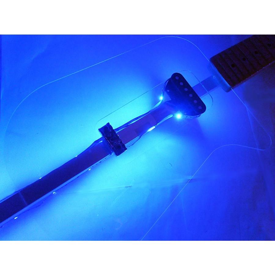 バーエレキギター透明ボディ シンプル軽量な未来型|tafuon|04