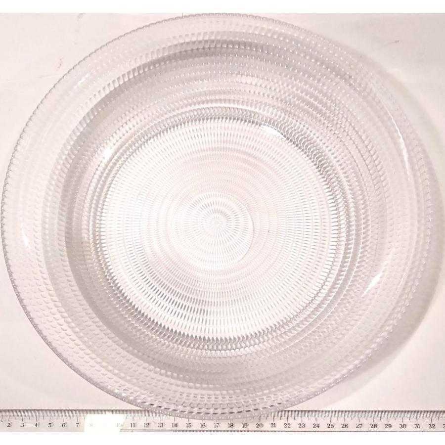 細かい模様の透明プラスチック皿 サラダボール30cm 高級感 伝振動スピーカー振動板 tafuon