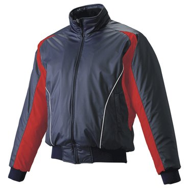 【SSK】エスエスケイ フロントフルジップ蓄熱グランドコート ネイビー×レッド×ホワイト bwg1002-7020w
