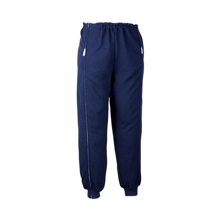 殿堂 スクエアニット 裾リブ付き全開ズボン-介護用品