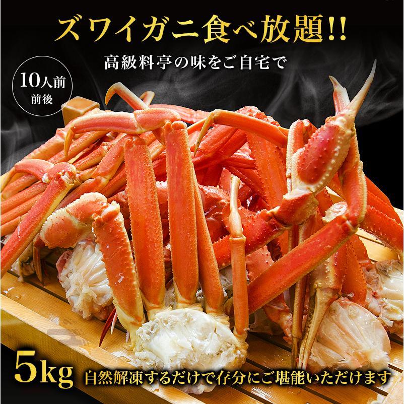 カニ ズワイガニ 足 特大 5kg カニ 食べ放題 5kg セット かに カニ 蟹 脚 ずわいがに ズワイガニしゃぶしゃぶ用 ボイルズワイガニ taino-tai 08