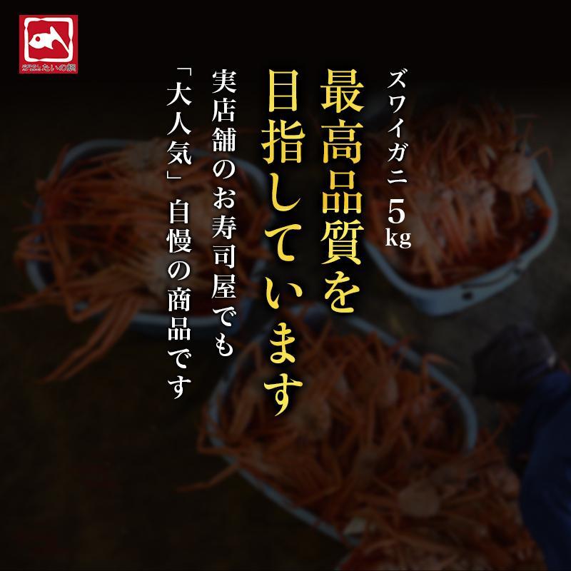 カニ ズワイガニ 足 特大 5kg カニ 食べ放題 5kg セット かに カニ 蟹 脚 ずわいがに ズワイガニしゃぶしゃぶ用 ボイルズワイガニ taino-tai 09