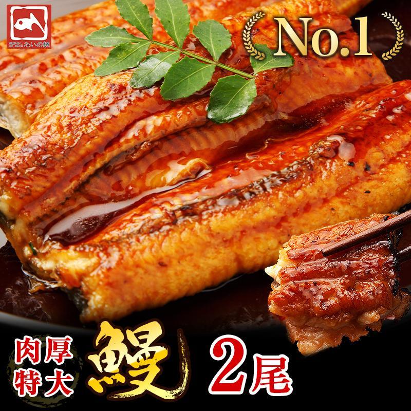 超特大 うなぎ 蒲焼き メガサイズ 360g-400g ×2本 ウナギ 鰻 ギフト taino-tai