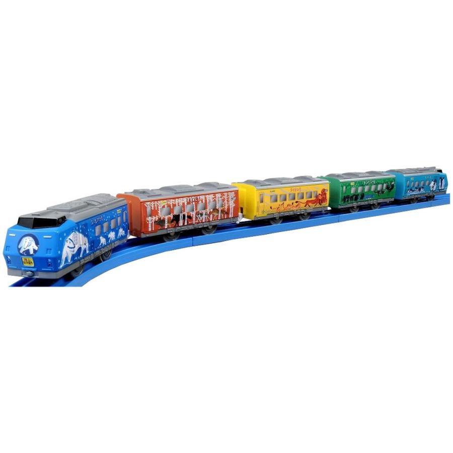 プラレール ぼくもだいすきたのしい列車シリーズ 旭山動物園号5両編成セット