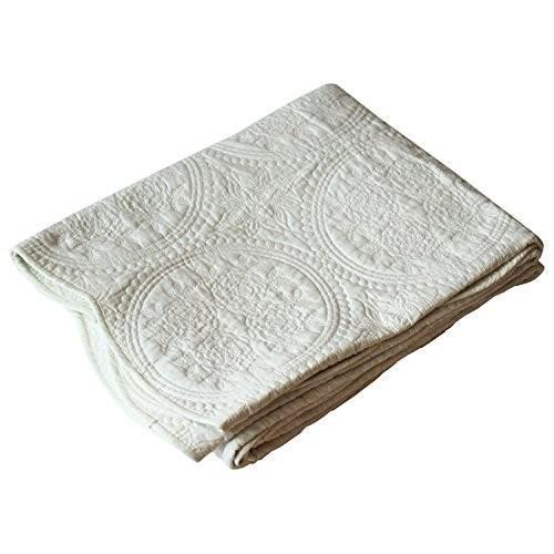 水洗いキルトマルチカバー 長方形 190×240cm アイボリー アイボリー 1140077003052