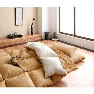 羊毛混ボリューム敷布団×フランス産フェザー羽根布団8点セット 極厚ボリュームタイプ シングル8点セット