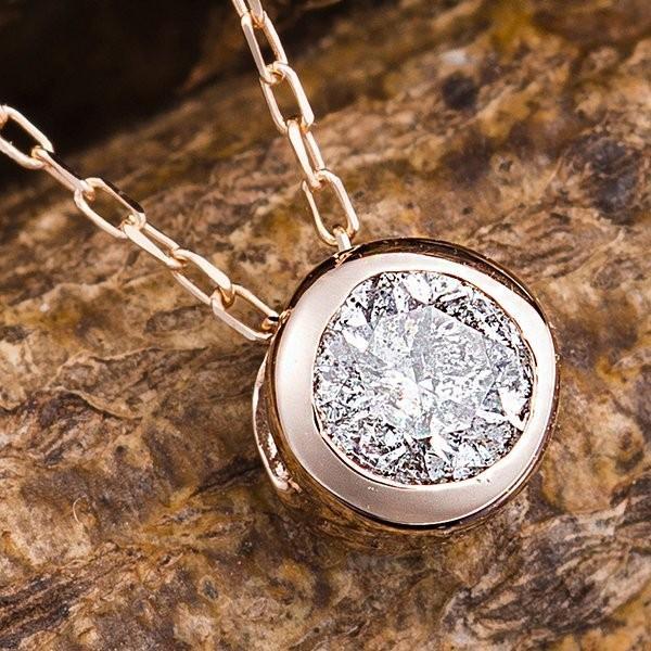 【メール便送料無料対応可】 K18PG 0.15ctダイヤモンドフクリンペンダント, 高来町 ce1fcdc1