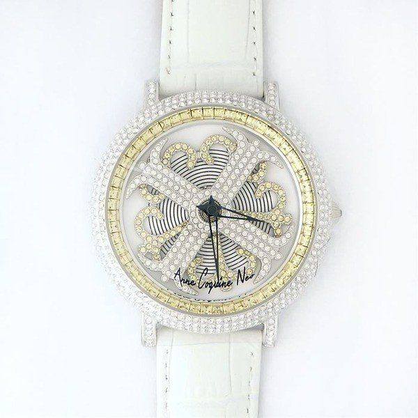 激安特価 アンコキーヌ ネオ 45mm バイカラー ミニクロス シルバーベゼル インナーベゼルイエロー ホワイトベルト イール 正規品(腕時計・グルグル時計), 足湯 フットバス 通販はスパテクノ 1af13609