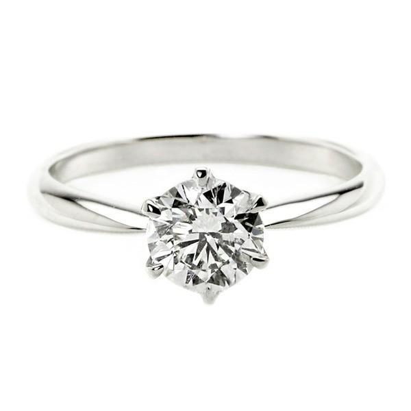 柔らかな質感の ダイヤモンド リング 一粒 1カラット 15号 プラチナPt900 Dカラー SI2クラス Excellent H&C エクセレント ハート&キューピット ダイヤリング 指輪 大粒 1ct..., 山中町 b2c68da3