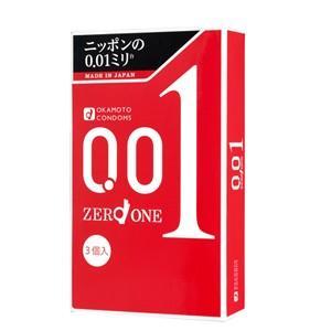 コンドーム オカモト ゼロワン 定番の人気シリーズPOINT ポイント 入荷 超特価 0.01ミリ 品名なし配送 3個入り