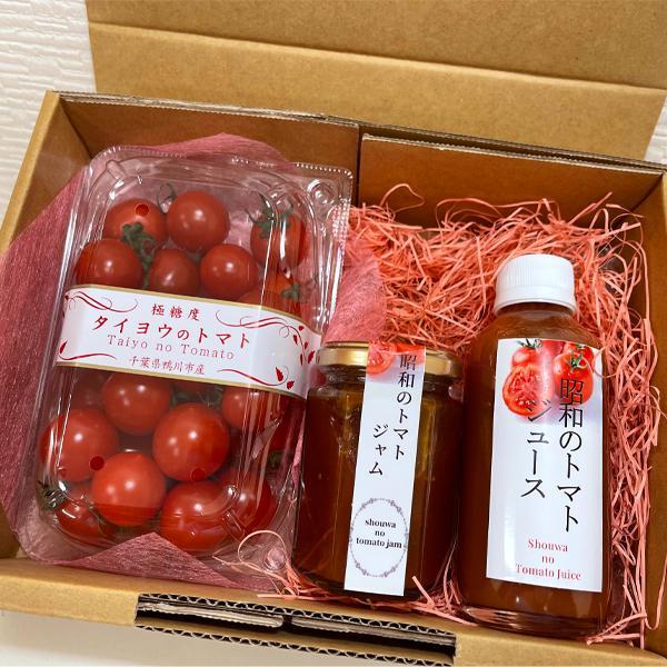 【川の手荒川まつりセット】フルーツトマト 産地直送 千葉県産 お取り寄せ タイヨウのトマトべにすずめ300g+昭和のトマトジャム1個トマトジュース1本セット taiyo-no-tomato 03