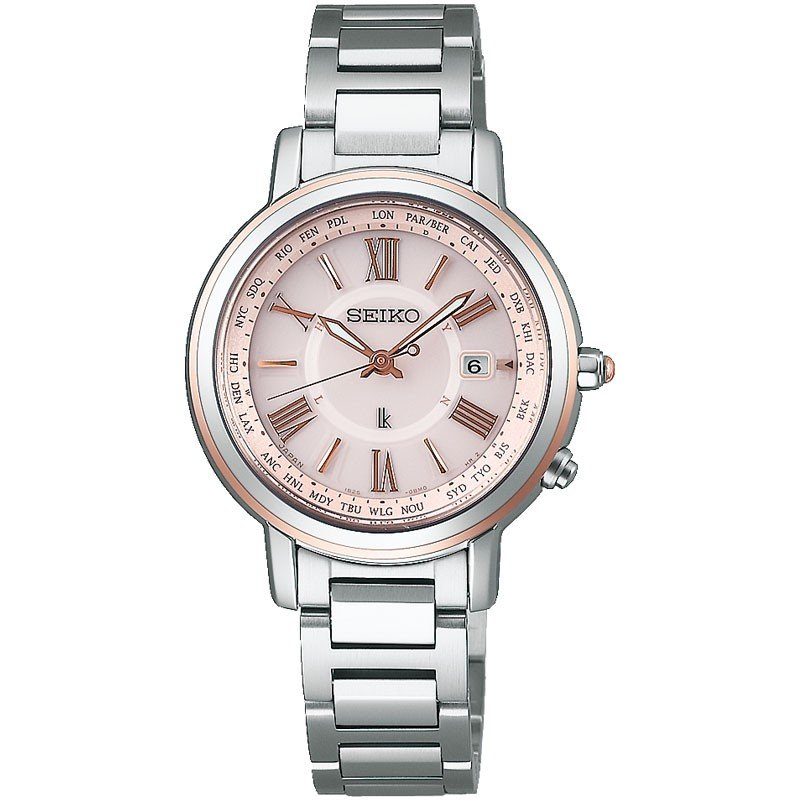 ホットセール SEIKO セイコー LUKIA ルキア 腕時計 ソーラー電波チタン ラッキーパスポート ブレスレット SSQV028 国内正規品 レディース, 天使の指輪 4860f2d4