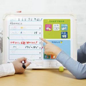 マイプランボード 宿題忘れ、忘れ物をなくす LV-4156-I 宿題忘れ・忘れ物のメモに 学習用ホワイトボード|taiyotomah