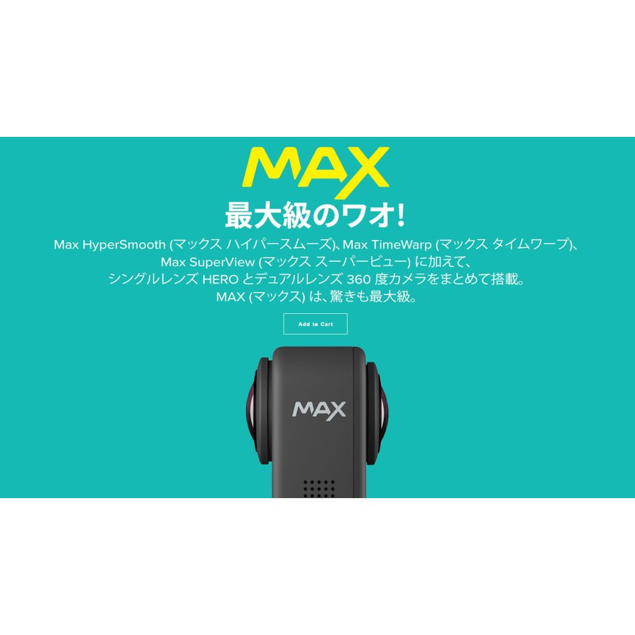 GoPro MAX(マックス) / CHDHZ-202-FX 小型宅配便 tajimastore 14