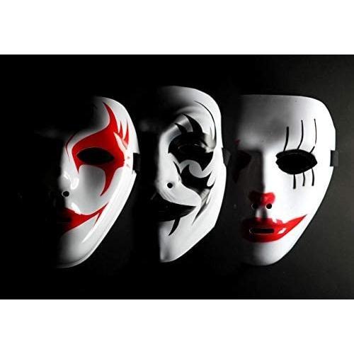 Good in three directions3種類セット ヒップ ホップ ストリート ダンス マスク 舞面 お面 舞台 仮装(狐面3個セットC)|takaeshop