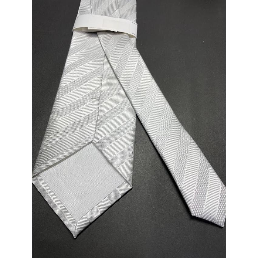 シルバーグレー ネクタイ 日本製 京都 西陣織 撥水加工 絹100% 礼装用 礼服用 結婚式 冠婚葬祭 フォーマル シルク NF101|takahashi-neck-wear|05
