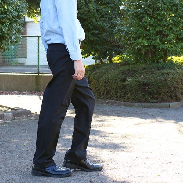 通年物 ビジネススラックス ブラック メール便×非対応スラックス メンズ ツータック パンツ ビジネスパンツ 裾上げ済み 洗える 大きいサイズ takahashi-wear 02