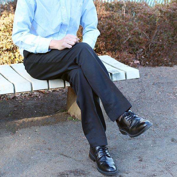 通年物 ビジネススラックス ブラック メール便×非対応スラックス メンズ ツータック パンツ ビジネスパンツ 裾上げ済み 洗える 大きいサイズ takahashi-wear 03