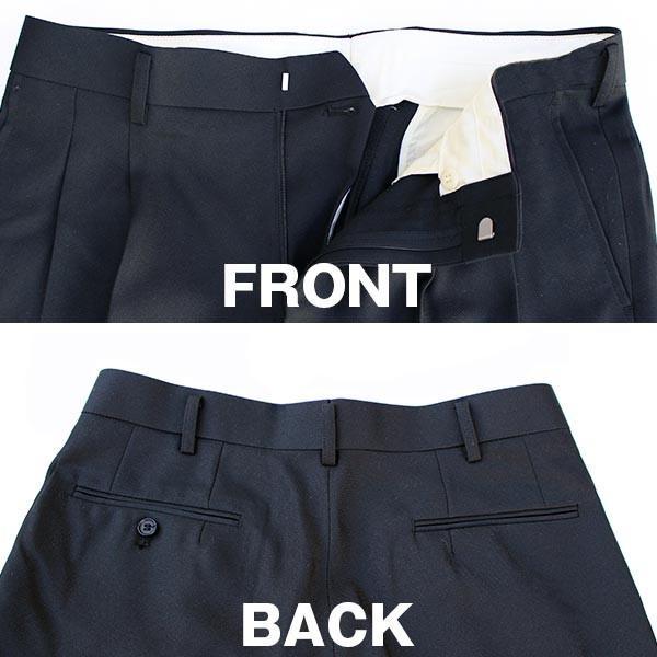 通年物 ビジネススラックス ブラック メール便×非対応スラックス メンズ ツータック パンツ ビジネスパンツ 裾上げ済み 洗える 大きいサイズ takahashi-wear 05