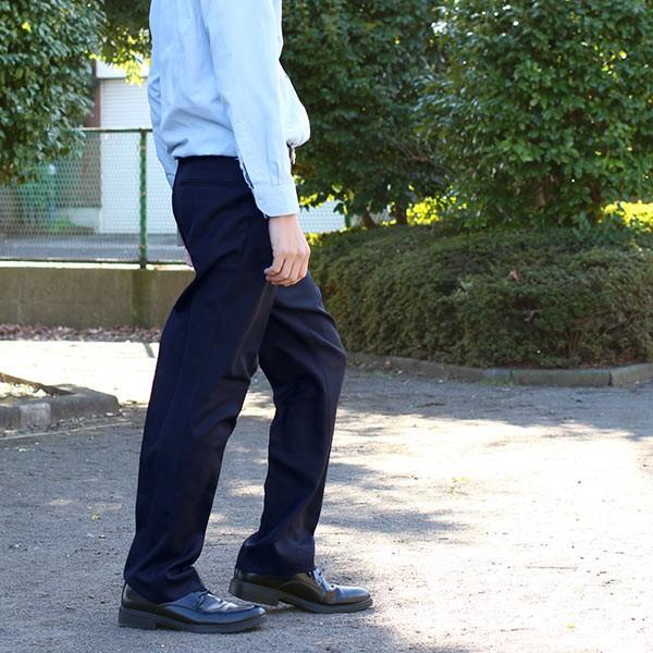 通年物 ビジネススラックス ネイビー メール便×非対応スラックス メンズ ツータック パンツ ビジネスパンツ 裾上げ済み 洗える 大きいサイズ|takahashi-wear|02