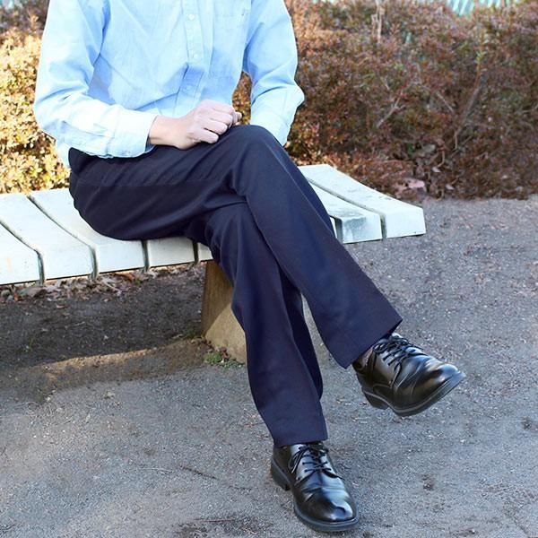 通年物 ビジネススラックス ネイビー メール便×非対応スラックス メンズ ツータック パンツ ビジネスパンツ 裾上げ済み 洗える 大きいサイズ|takahashi-wear|03