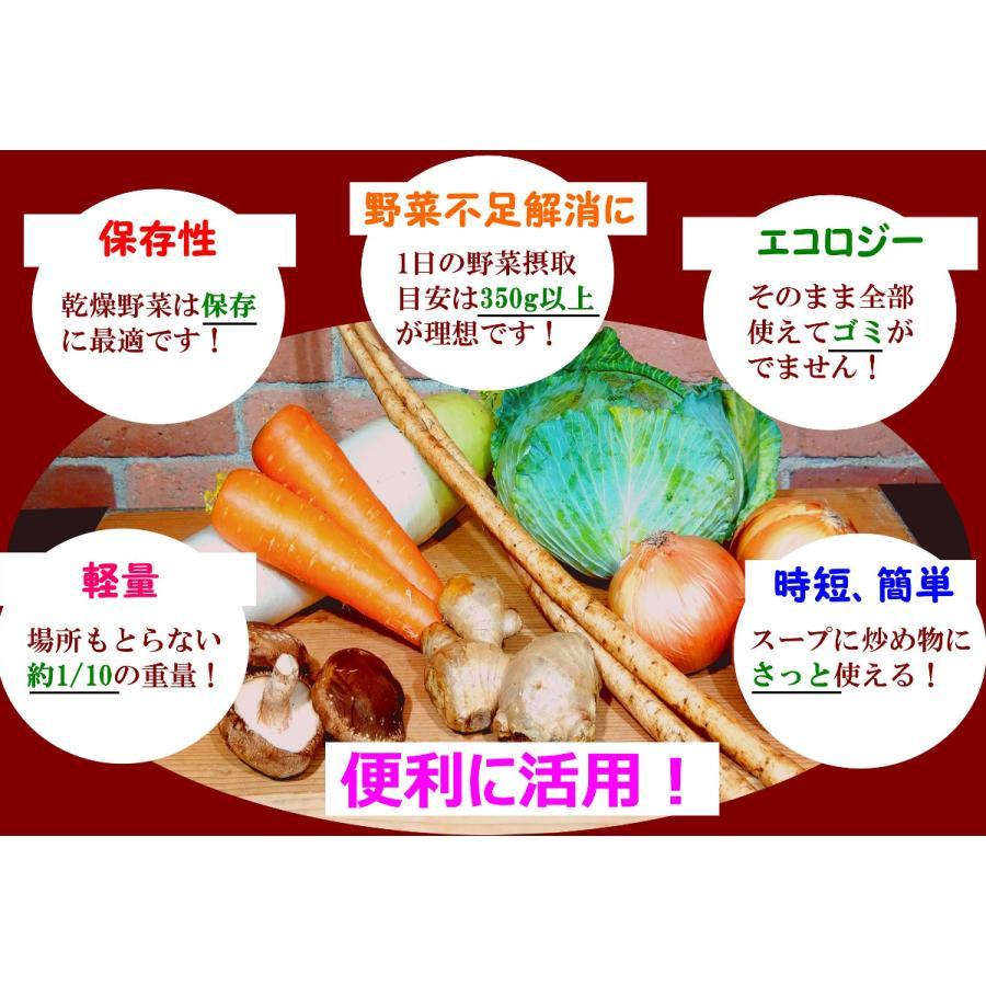九州七味野菜 九州産 120g  無添加 無塩 ブドウ糖不使用 7種類の野菜 スープの具 味噌汁の具 野菜不足解消に|takamax10|02
