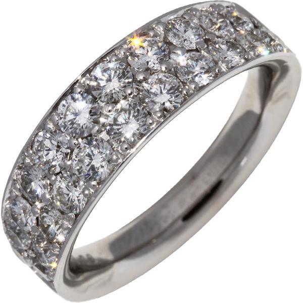 最新作 指輪 リング K18WG ダイヤ1.38ct 12号, きれいみつけた b826d765