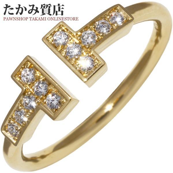 品揃え豊富で ティファニー 指輪 リング K18YG ダイヤ12P 0.13ct Tワイヤーリング 11.5号, メガネのヒラタ 0572cf45